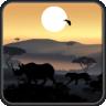 African Sunset Live Wallpaper