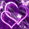 Hearts Purple Butterfly Live Wallpaper
