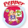 Pepper eats green vegetable