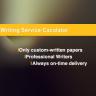 Writing Service Calculator