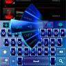 GO Keyboard Blue Neon Theme