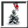 Animated Flying Santa