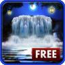 3D Night Waterfall