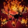 Rippling Skull on Fire