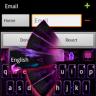GO Keyboard Purple Flame Theme