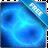Glowing blue rings