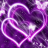 Hearts Purple Butterfly Live Wallpaper