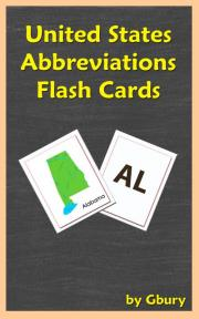 United States Abbreviations Flash Cards