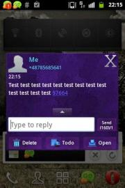 GO SMS Theme Dark Purple
