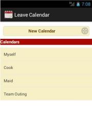 Leave Calendar