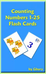 Counting Numbers 1–25 Flash Cards