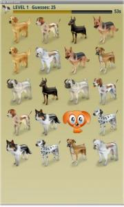 Dogs Match Game