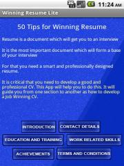 Winning Resume Lite