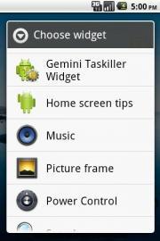 Gemini Taskiller Widget