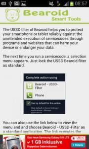 Bearoid - USSD-Filter
