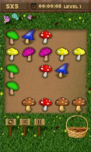 Mushrooms And Scissor