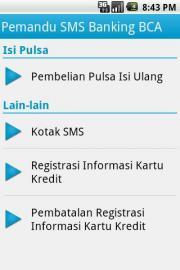 Pemandu SMS BCA
