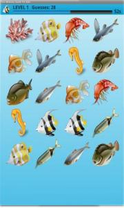 Fish Memory Game For Kids