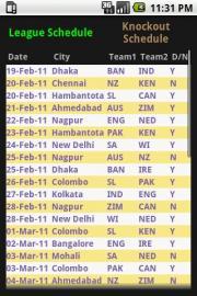 Schedule View