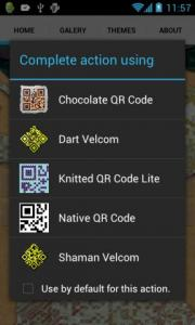 Chocolate Theme for Fancy QR Code Maker