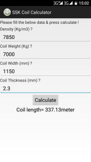 SSK Coil Calculator