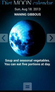 Diet moon calendar