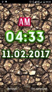 Metal Clock Live Wallpaper