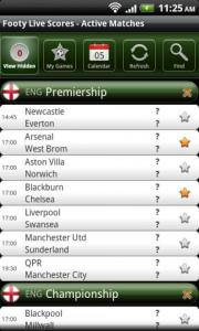 Footy Live Scores