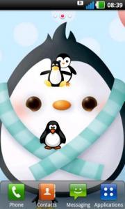 Cute Penguins Live Wallpaper LWP