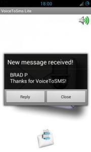 VoiceToSms Lite