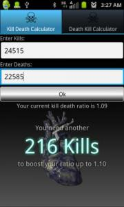 Kill Death Calculator