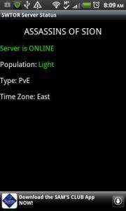 SWTOR Server Status