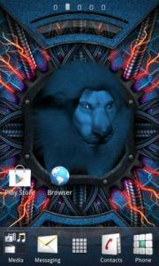 Blue Lion Live Wallpaper
