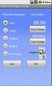 Chibi Clock Widget Config