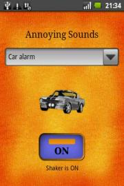 Annoying sounds button