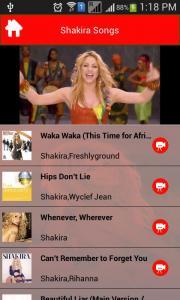 Shakira Songs