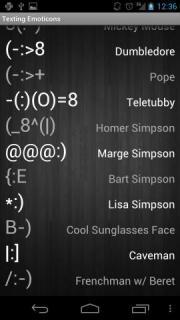 Texting Emoticons