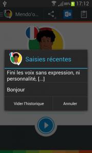 Voix Mendo'o (français)