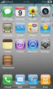 Fake iPhone Theme