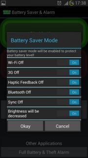 Battery Saver & Alarm