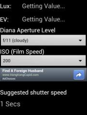 Diana Light meter
