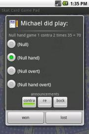 Skat Card Game Pad
