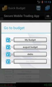 Quick Budget