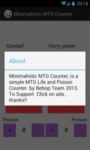 Minimalistic MTG Counter