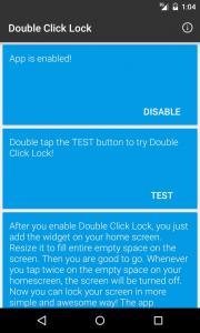 Double Click Lock