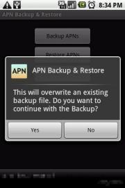 APN Backup & Restore
