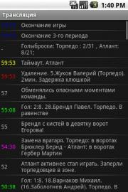 KHL Scores