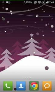 Abstract Winter Snowfall Lite LWP