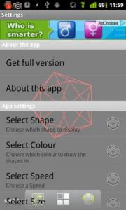 Geometric Shapes Live Wallpaper