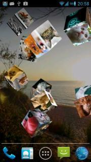Flying Photos Wallpaper